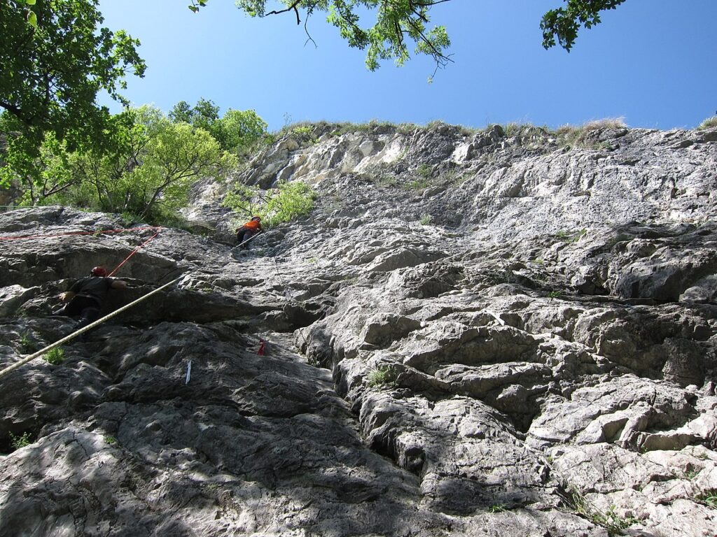 Esempio di parete calcarea