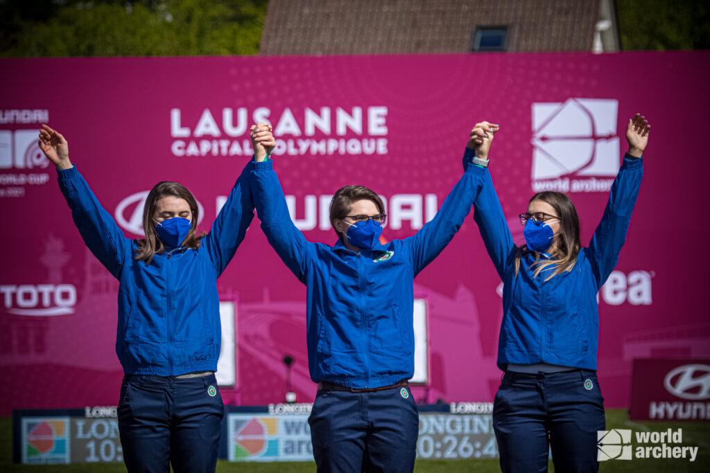 Le azzurre conquistano l'oro nella gara a squadre in World Cup a Losanna