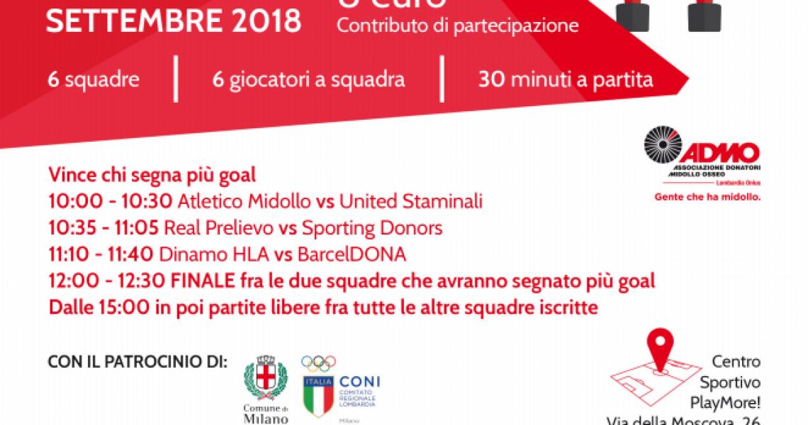 A Milano il primo torneo di Calcio Balilla Umano grazie ad ADMO