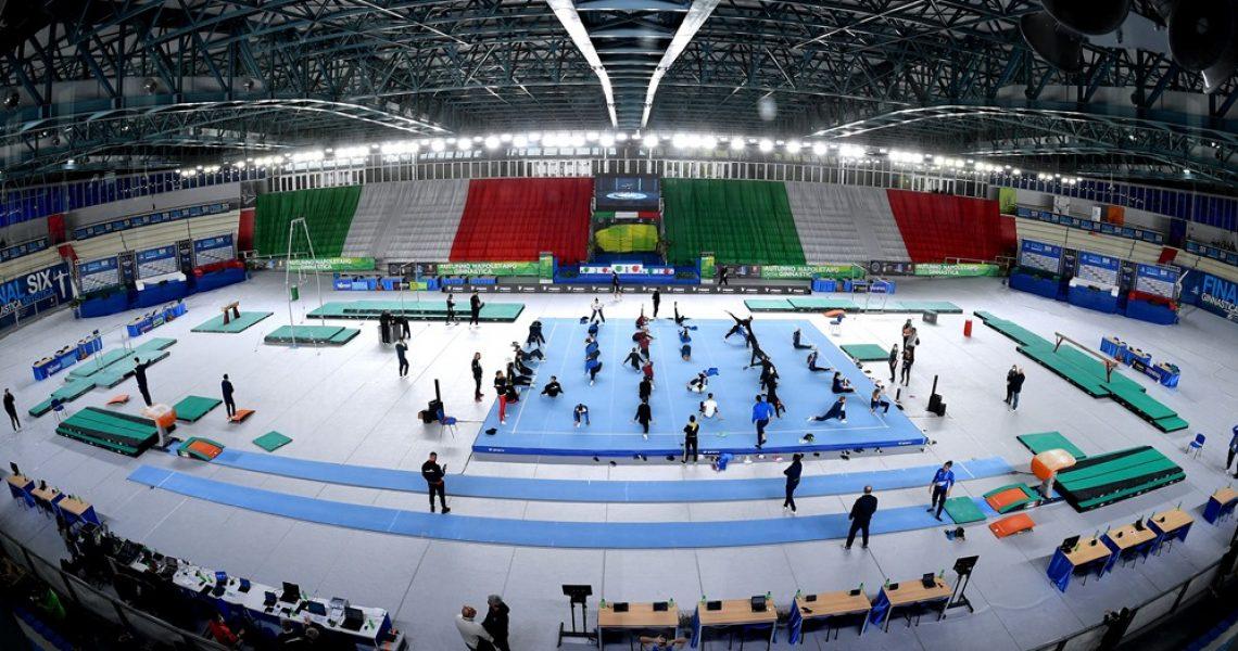Napoli 21 novembre 2020 Ginnastica Artistica. Campionato serie A FINAL 6. Nella foto: GAM GAF VAR © foto di Simone Ferraro / FGI