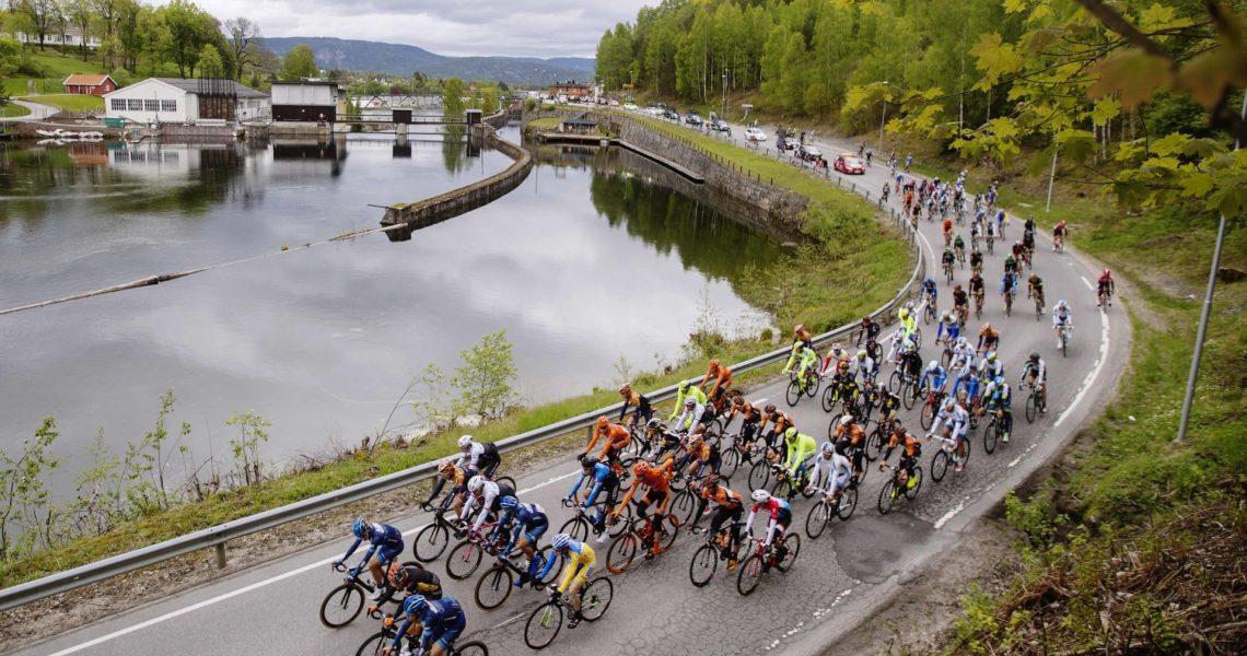 Cycling: Tour of Norway 2015/ Stage 3 Illustration Illustratie/ Peloton Peleton/ Landscape Paysage/ River/ Skien - Rjukan (185Km)/ Tour of Norway/ Rit Etape /© Tim De Waele