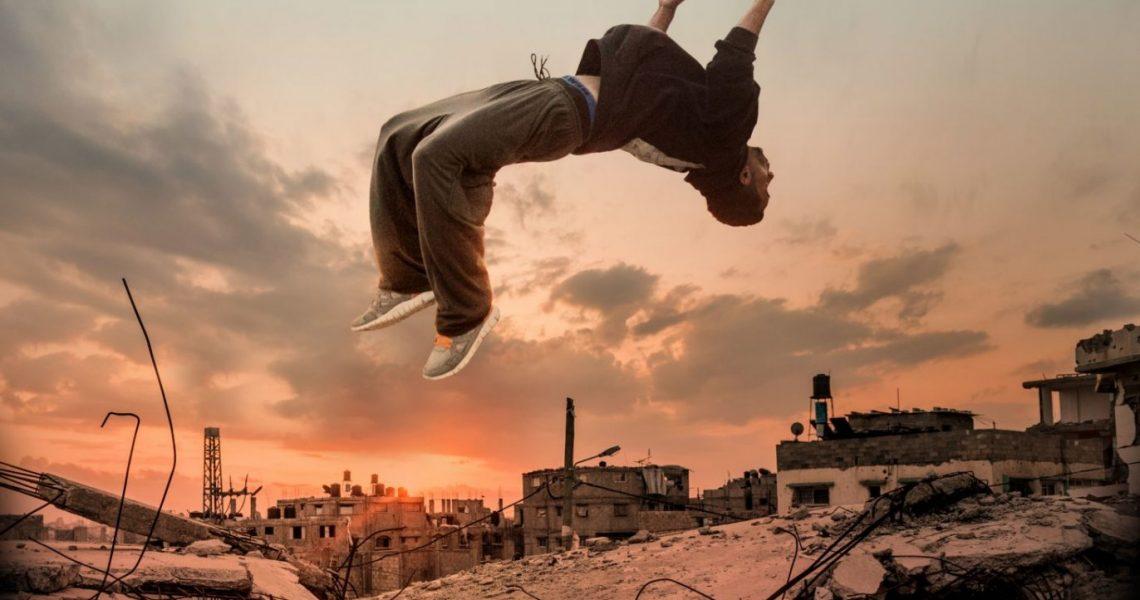 parkour a Gaza